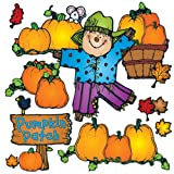 Carson Dellosa - D.J. Inkers Pumpkin Patch Bulletin Board Set, Fall Classroom Décor, 32 Pieces