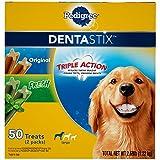 PEDIGREE DENTASTIX Large Dental Dog Treats Original and Fresh Variety Pack, 2.69 lb. Pack (50 Treats)