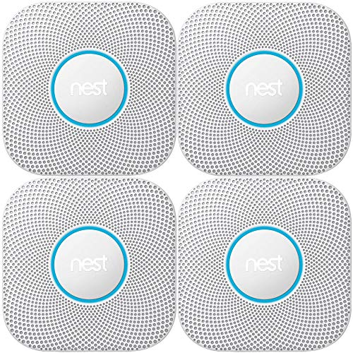 Nest Protect Wired Smoke & Carbon Monoxide Alarm (White, 2nd Generation) 4-Pack Bundle