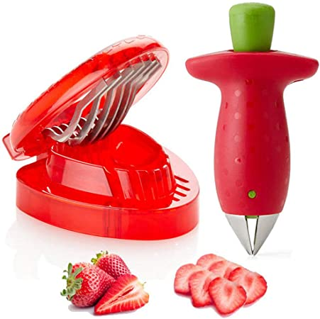 Strawberry Huller Fruit Slicer Set
