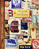 "Trip Planner & Travel Journal: Vacation Planner & Diary for 4 Trips, with Checklists, Itinerary & more [ Softback Notebook * Large (8"" x 10"") * Vintage Collage ] (Travel Gifts)"