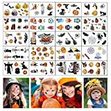 Dream Loom Halloween Tattoos, 20 Sheets Party Supplies Pumpkin Bats Witch Monster Tattoos , Party Favor Accessory for Kids Children