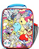 Pokemon All Over Print Multi Characters Insulated Lunch Bag for Kids with Mesh Pocket