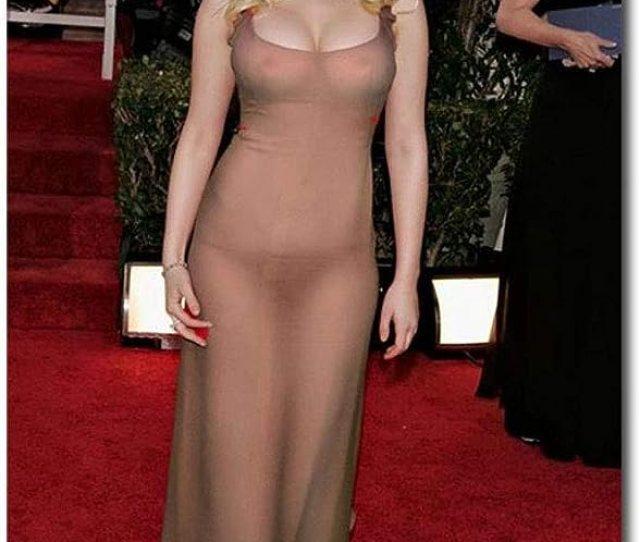 Amazon Com Scarlett Johansson Sexy See Through Dress Refrigerator