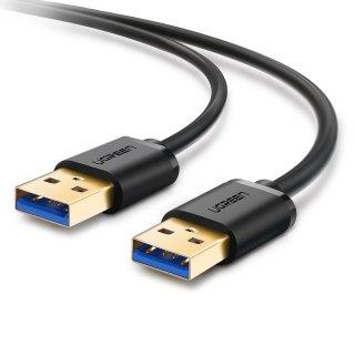 Ugreen USB 3.0 ケーブル タイプA-タイプA オス-オス 金メッキコネクタ搭載 ブラック 0.5m