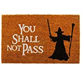 getDigital Doormat You shall not pass | Carpet Entrance Rug Front Door Welcome Mat | Made from high-quality coco coir fibers | Perfect for LotR lovers | Orange-Brown 23.7 x 15.7 inch