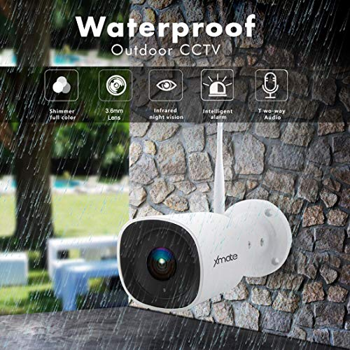 61yOgmId9VL Xmate Zoom 2MP Outdoor Waterproof Wireless Security Camera | Motion Detection | Night Vision | Supports Micro SD Card up to 128 GB | Optional Cloud Storage