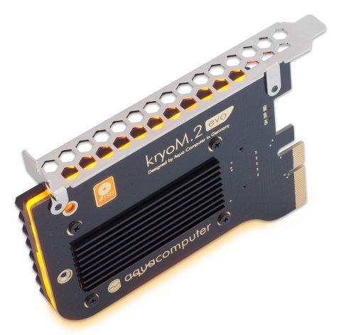Aquacomputer kryoM.2 evo 側面のLEDライト