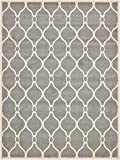 Unique Loom Trellis Collection Geometric Modern Gray Area Rug (9' 0 x 12' 0)