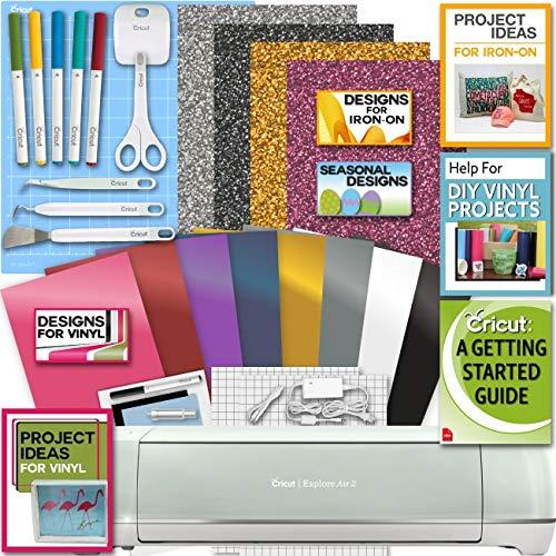 Cricut Explore Air 2 Machine Bundle Iron On Vinyl Pack Tools Pen Design Beginner Guide