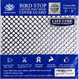 New Aroma Trees Dryer Vent Bird Stop - Dryer Vent Grill - Pest Guard - Stops Birds Nesting In Dryer Vents, Customizable 3' - 8' (The Plastic Louvered Vent Cover NOT INCLUDED)