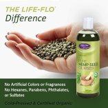 Bottle of Life-Flo Pure Hemp Seed Oil