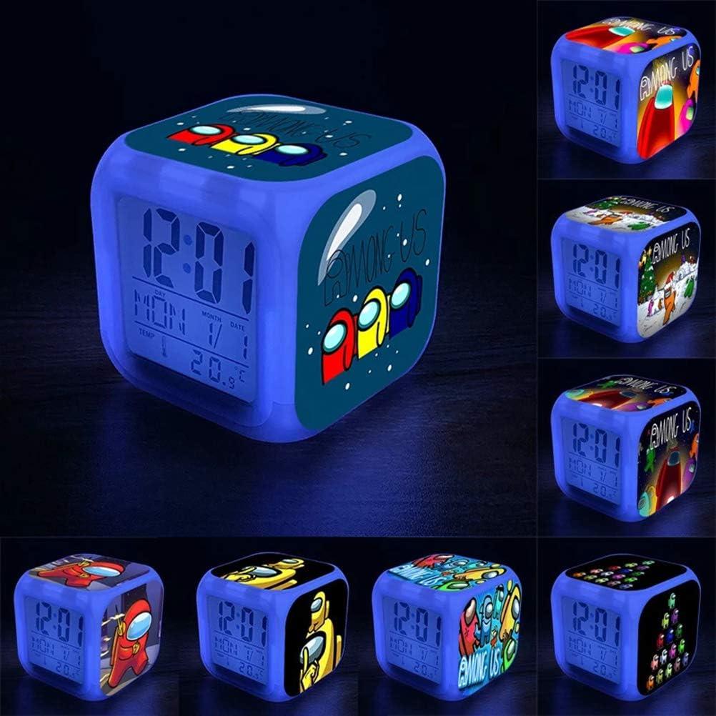 Among Us Reloj-Despertador Led