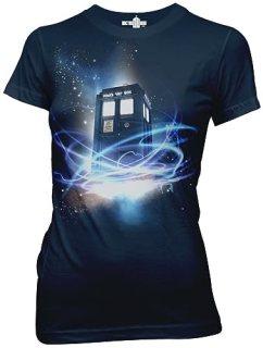 Doctor Who Tardis In Space Juniors Tee Ripple Junction AMZ M