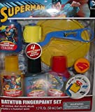 Superman Bathtub Fingerpaint Set - 4 Mess Free Soap Paints - Bath Time Fun