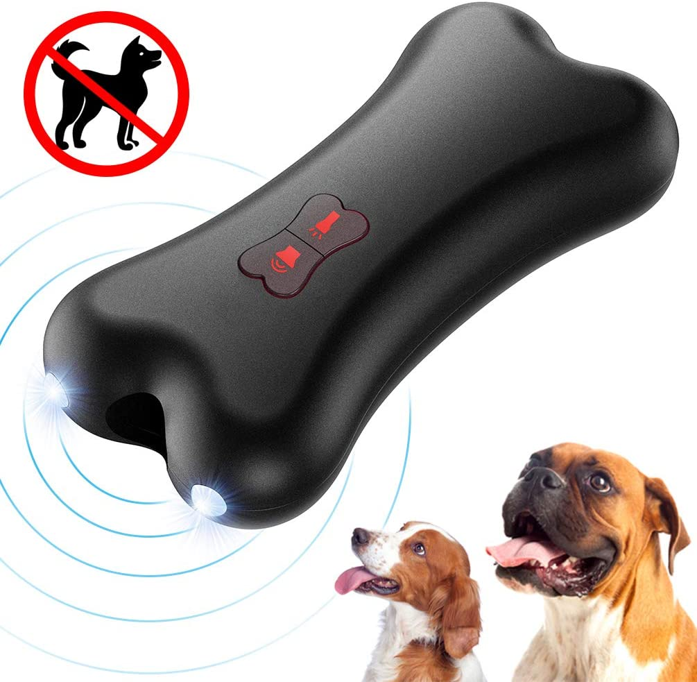 Petacc Antiladridos Perros,Dispositivo Antiladrido de Mano Dispositivo de Entrenamiento de Controlador de Ladridos de Perro Disuasor Ultrasónico de Ladrido de Perro con luz LED, Carga USB