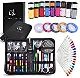 Sewing Kit Over 125 most useful SEWING SUPPLIES | 5 Nylon Threads, 35 Needles, 38 Multi Color Thread Spools & 18 Sewing Pins | Mini Compact Sewing Kit for Beginners Professionals & Emergency Repair!