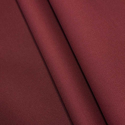 Canvas Fabric Waterproof Outdoor 60' wide 600 Denier 15 Colors sold by the yard (1 YARD, Burgundy)