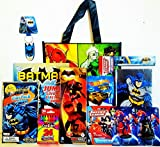 11 Piece Justice League Coloring & Activity Gift Set with Justice League Reusable Tote Bag, Dark Knight Hot Wheel, Batman Journal & more!
