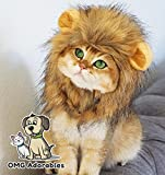 OMG Adorables Lion Mane Costume for Cat | Soft, Furry Pet Wig with Cute Ears | Fits Adult Felines and Small Dog | Pet Friendly Clothing Accessories