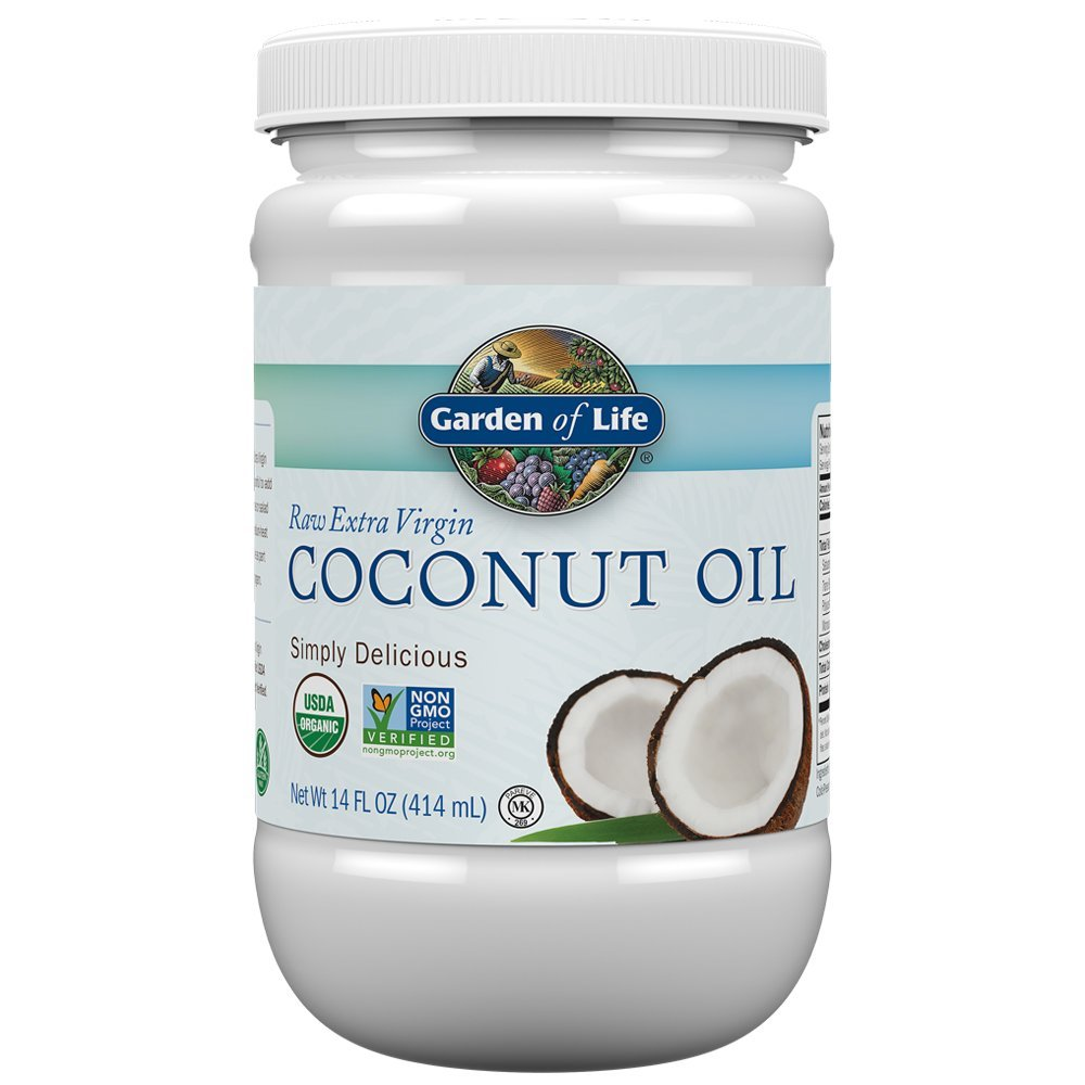 Garden of Life Organic Extra Virgin Coconut Oil - Unrefined Cold Pressed Coconut Oil