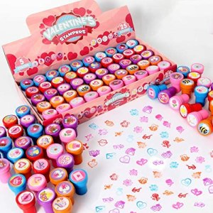 50 Valentines day Arts & Crafts Stamper for kids Stamps for Valentine's Day Classroom Gifts, Novelty Party Favor Exchanging Gifts