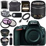 Nikon D5500 DSLR Camera with AF-P 18-55mm VR Lens (Black) + Sony 128GB SDXC Card + Carrying Case Bundle