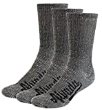 AIvada 80% Merino Wool Hiking Socks Thermal Warm Crew Winter Sock For Men Women 3 Pairs ML