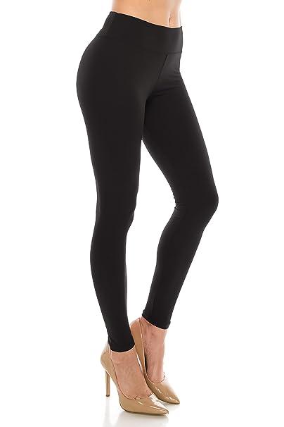 ALWAYS Women's High Waist Leggings - Premium Buttery Soft Yoga Workout Stretch Solid Pants Black Regular