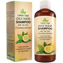 Volumizing Shampoo For Oily Hair - Vitamin Shampoo With Lemon Oil + Sage - Natural Hair Care