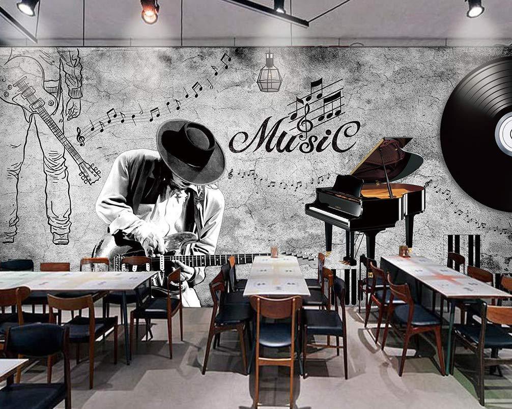 Amazon.com: Murwall Music Note Wallpaper Piano Wall Mural Dark