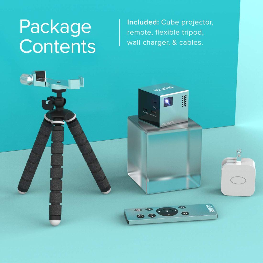 RIF6-CUBE-Mobile-Pico-Projector