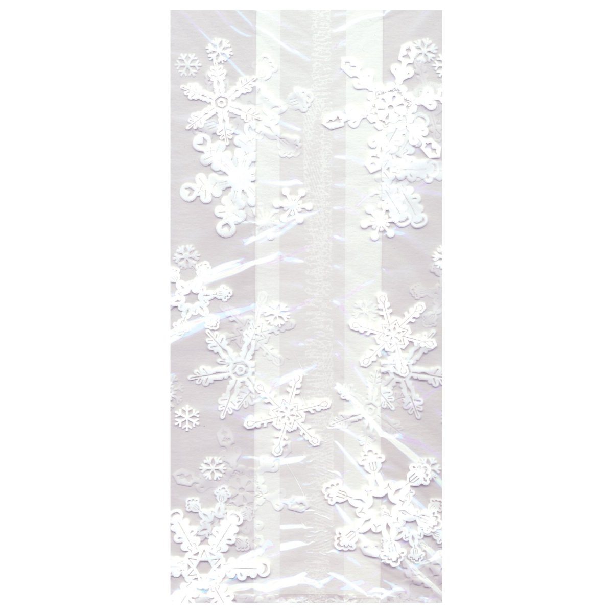 Bulk Christmas Large Cello Bags, Snowflake