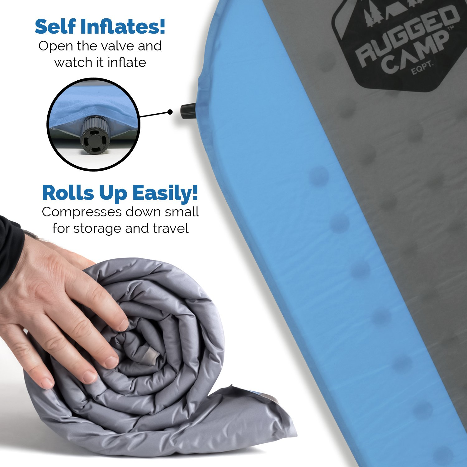 Rugged Camp Self Inflating Sleeping Pad