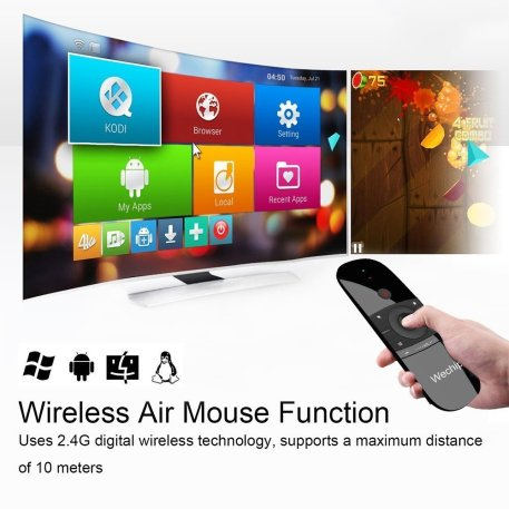 WeChip remote - the best wireless airmouse and keyboard for Android TV