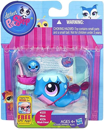 Amazon Com Littlest Pet Shop 3233 Whale 3234 Whale Friend Sweeter Best Friends Toys Games