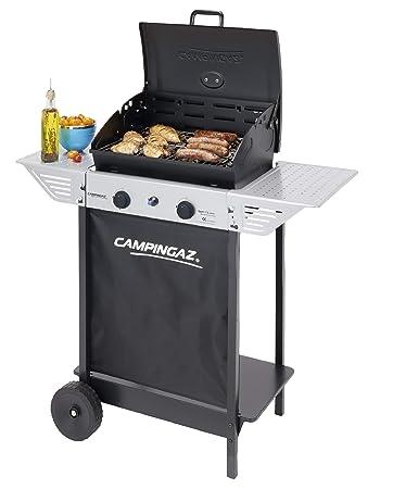 Campingaz Bbq A Roccia Lavica Xpert 100 L Plus Rocky Barbecue Grill Compatto A 2 Bruciatori 71kw Di Potenza 2 Griglie Cromate 2 Ripiani Laterali