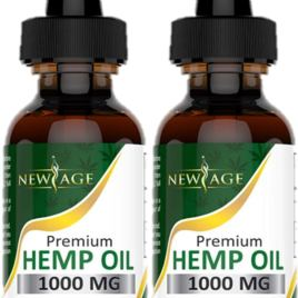 (2-Pack) Hemp Oil Extract for Pain & Stress Relief – 1000mg of Organic Hemp Extract – Grown & Made in USA – 100% Natural Hemp Drops – Helps with Sleep, Skin & Hair