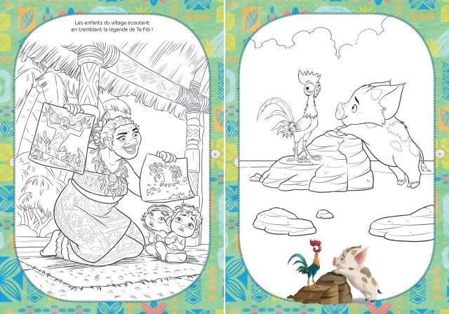 Disney Vaiana Coloriage avec stickers : Petit, Caroline: Amazon.de