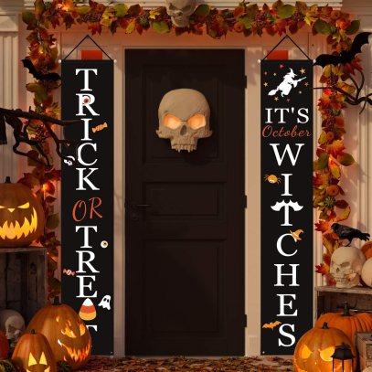 It's Halloween Witches Door Decal