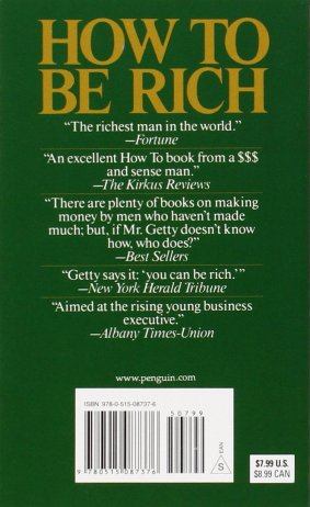How to Be Rich: Getty, J. Paul: 9780515087376: Amazon.com: Books