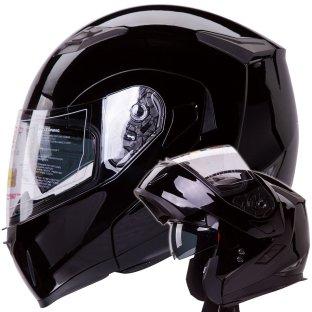 Dual Visor Modular Motorcycle Snowmobile Helmet