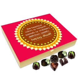 Chocholik Diwali Gift – Light Fire Crackers and Enjoy Diwali to The Fullest Happy Diwali Chocolate Box – 20pc