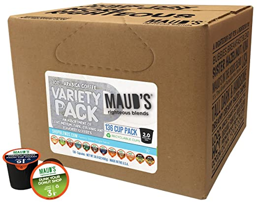 Maud's Gourmet Coffee Pods - 12 Flavor Variety Pack