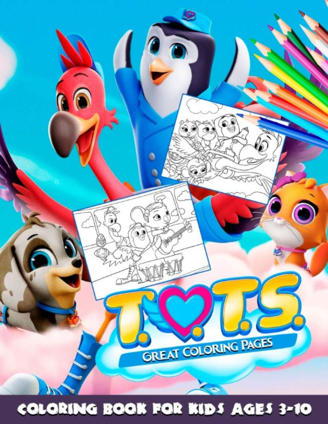 Tots Coloring Book: Great Coloring Pages For Kids Ages 14-14