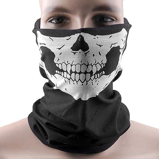 Amazon.com : Hitaocity Skull Face Multi Use Face Mask Scarf Head ...