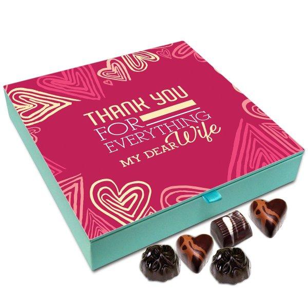 Chocholik Anniversary Gift Box – Thank You for Everything My Dear Wife Chocolate Box – 9pc