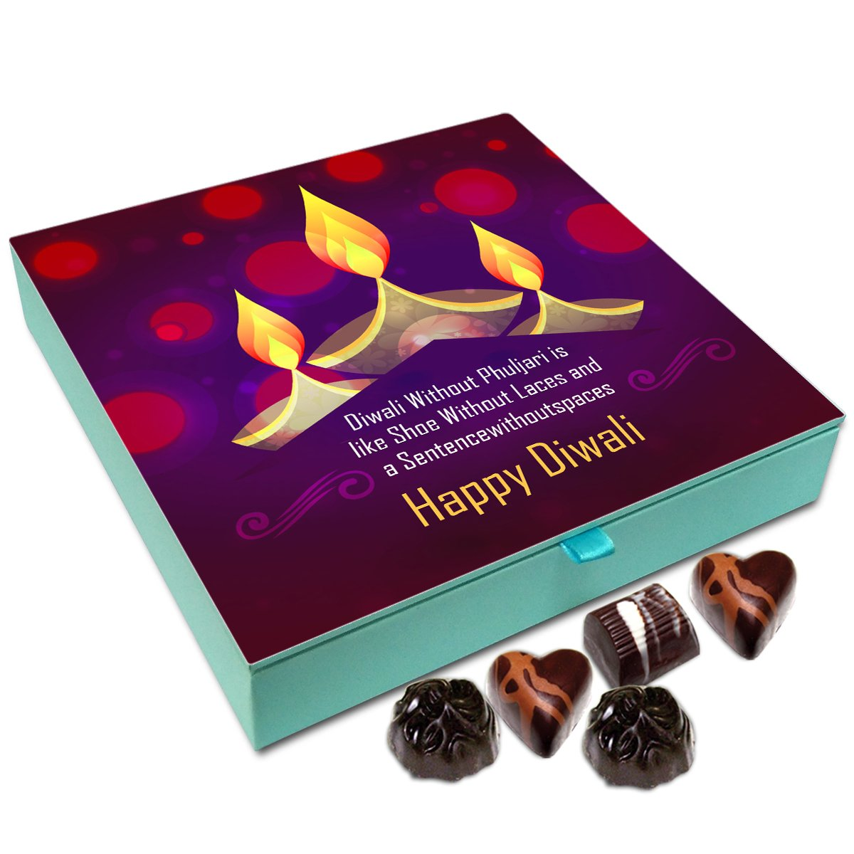 Chocholik Diwali Gift Box – Diwali Without Crackers is Like Sentence Without Space Chocolate Box – 9pc