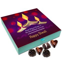 Chocholik Diwali Gift Box – Diwali Without Crackers is Like Sentence Without Space Chocolate Box – 9pc