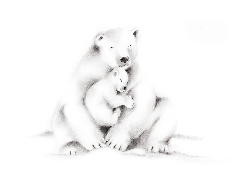 Amazon Com Polar Bear Family Nursery Art Print Available In Various Sizes Unframed Print Handmade